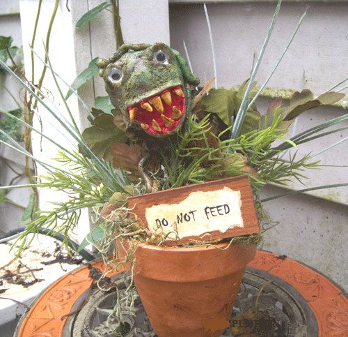 halloween decoration man eating plant horror monster garden pot