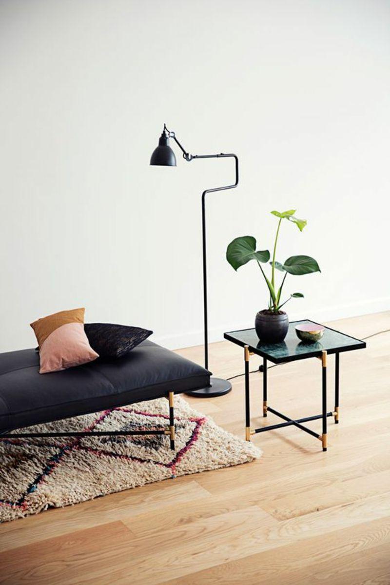 Daybed skandinavisch  skandinavisch wohnen elegante Designermöbel schwarz ...