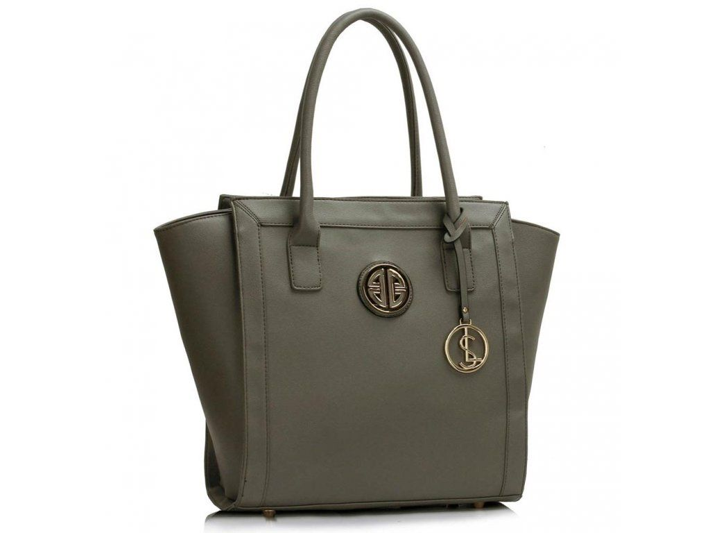 Sivá shopper kabelka do ruky Carin LS00417  85f63331749