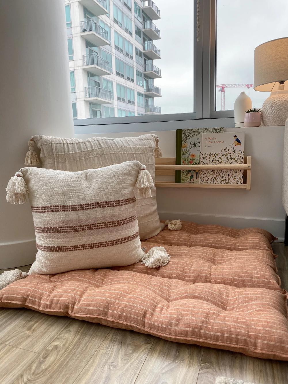 Organic Floor Cushion Nursling In 2020 Floor Cushions Living Room Floor Cushions Kids Floor Cushions