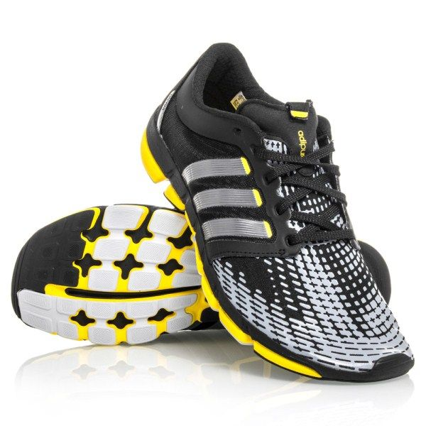 Adidas Adipure Motion  Mens Running Shoes  Black Silver Yellow