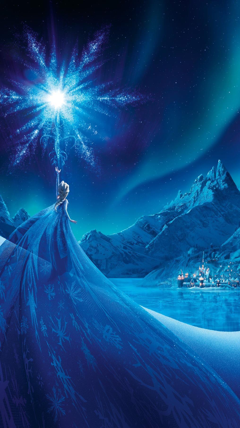 Frozen (2013) Phone Wallpaper in 2020 Disney princess