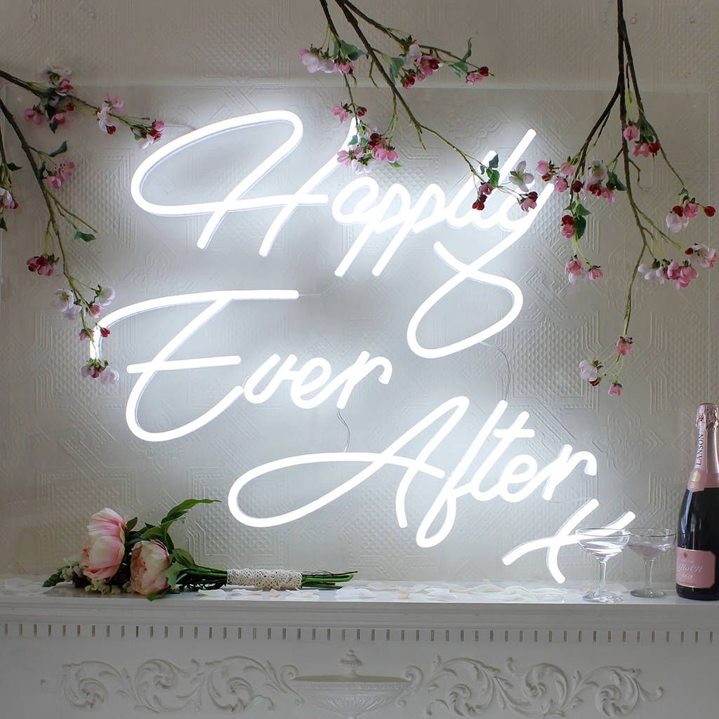 Happily Ever After LED Neon Wedding Sign Quirky wedding
