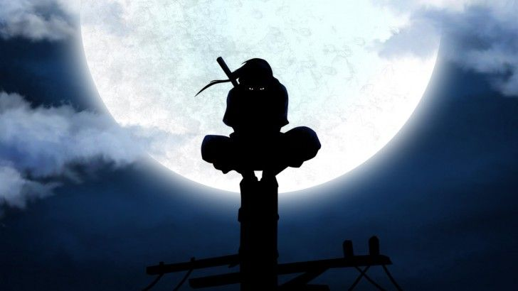 Anbu Ninja Itachi Uchiha Anime 1920 1080 Full Moon Ninja Wallpaper Naruto Wallpaper Wallpaper Naruto Shippuden Blood moon itachi moon wallpaper