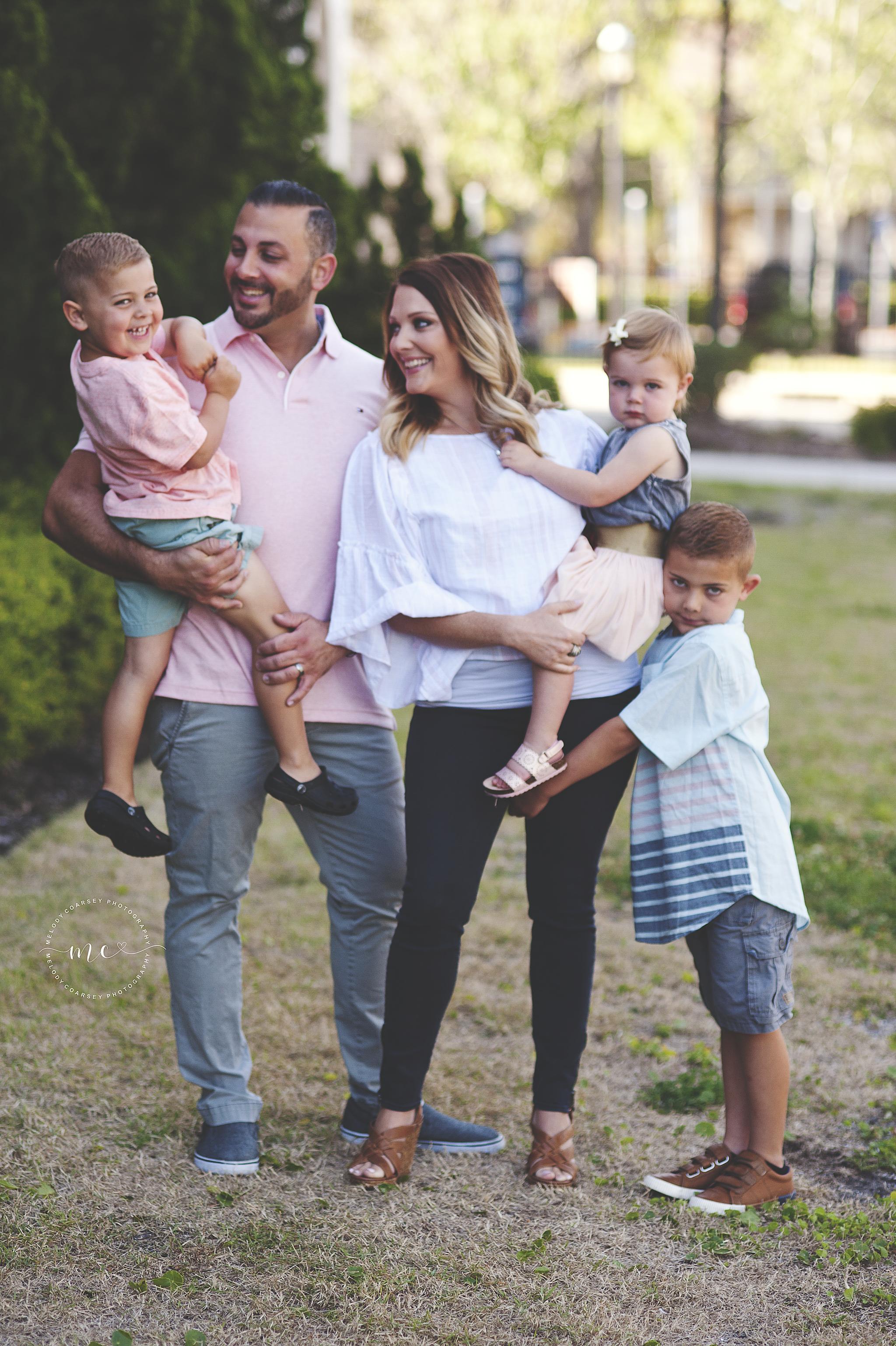 Blue And White Family Photos
