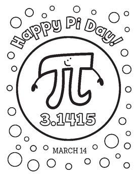 Pi Day 3 14 Coloring Page Real Life Math Pi Day Fun Math