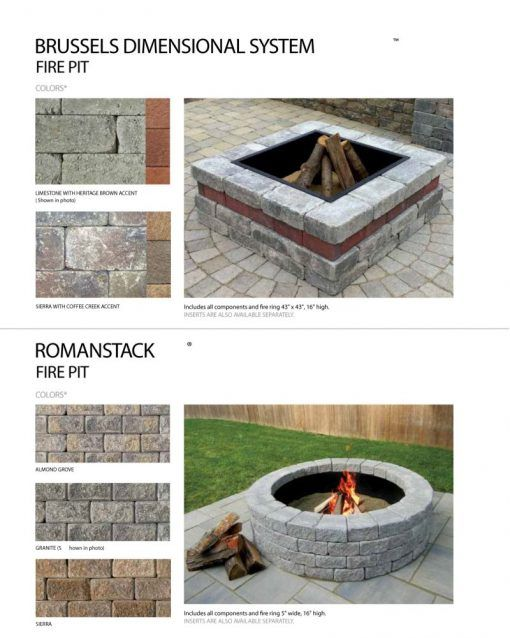 Buy Unilock Fire Pit Ring Insert Round Fire Pit Fire Pit
