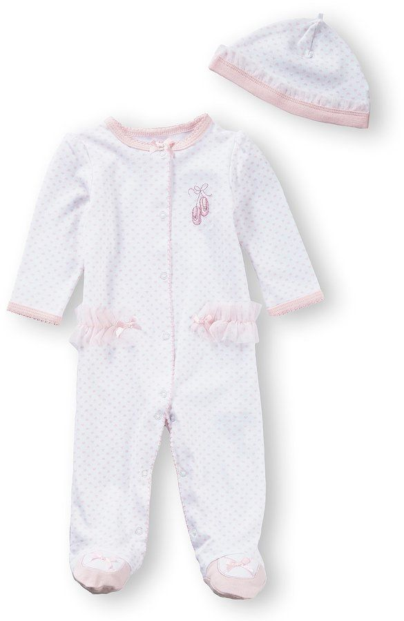 5e8888a6aa28 Little Me Baby Girls Preemie-9 Months Prima Ballerina Footed ...