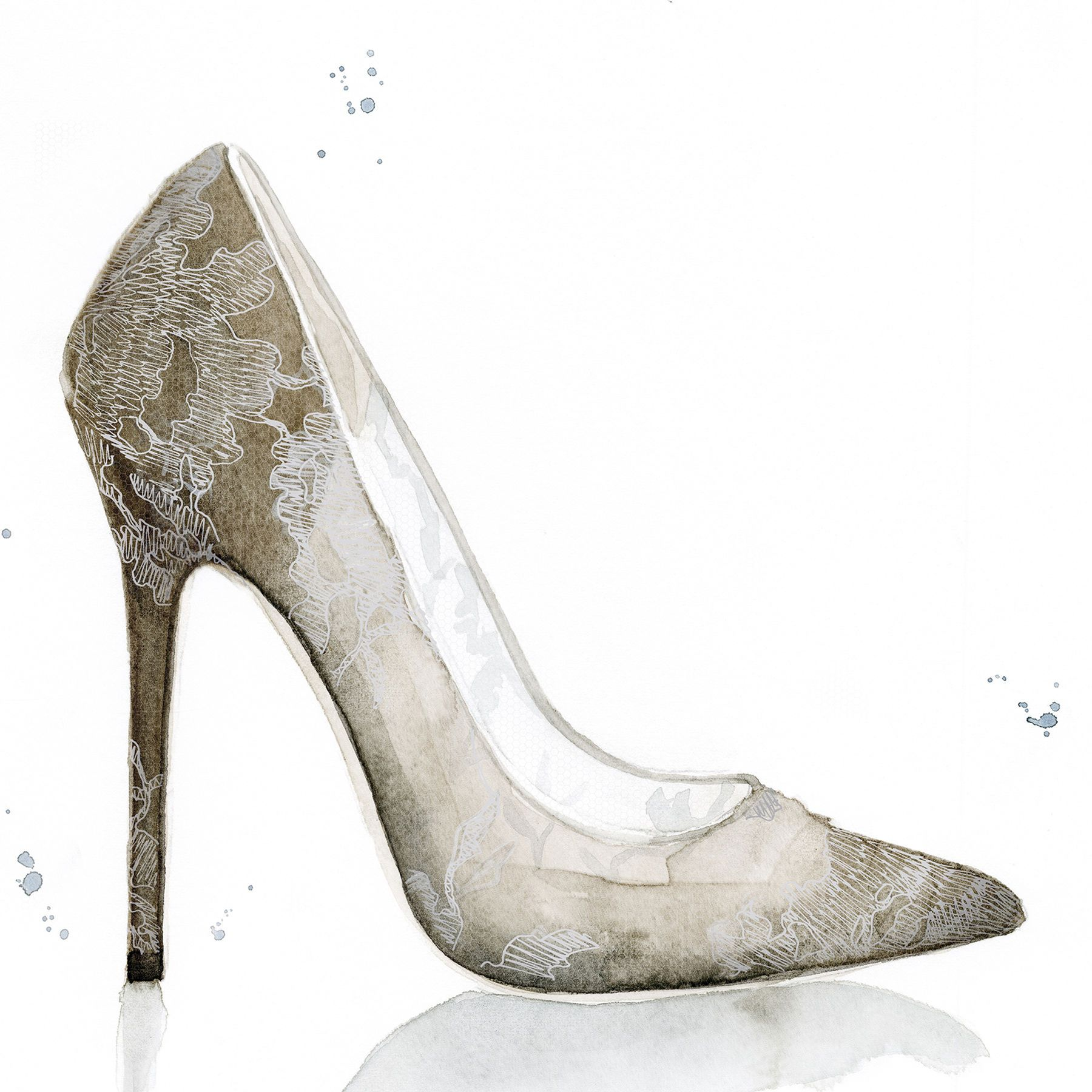 ed0d9499ed18 Silver Metallic Lace Pointy Toe Pumps