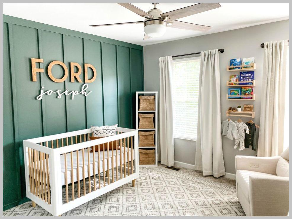 118 Nursery Ideas With Photos And Details Boy Room Accent Wall Nursery Room Design Nursery Accent Wall