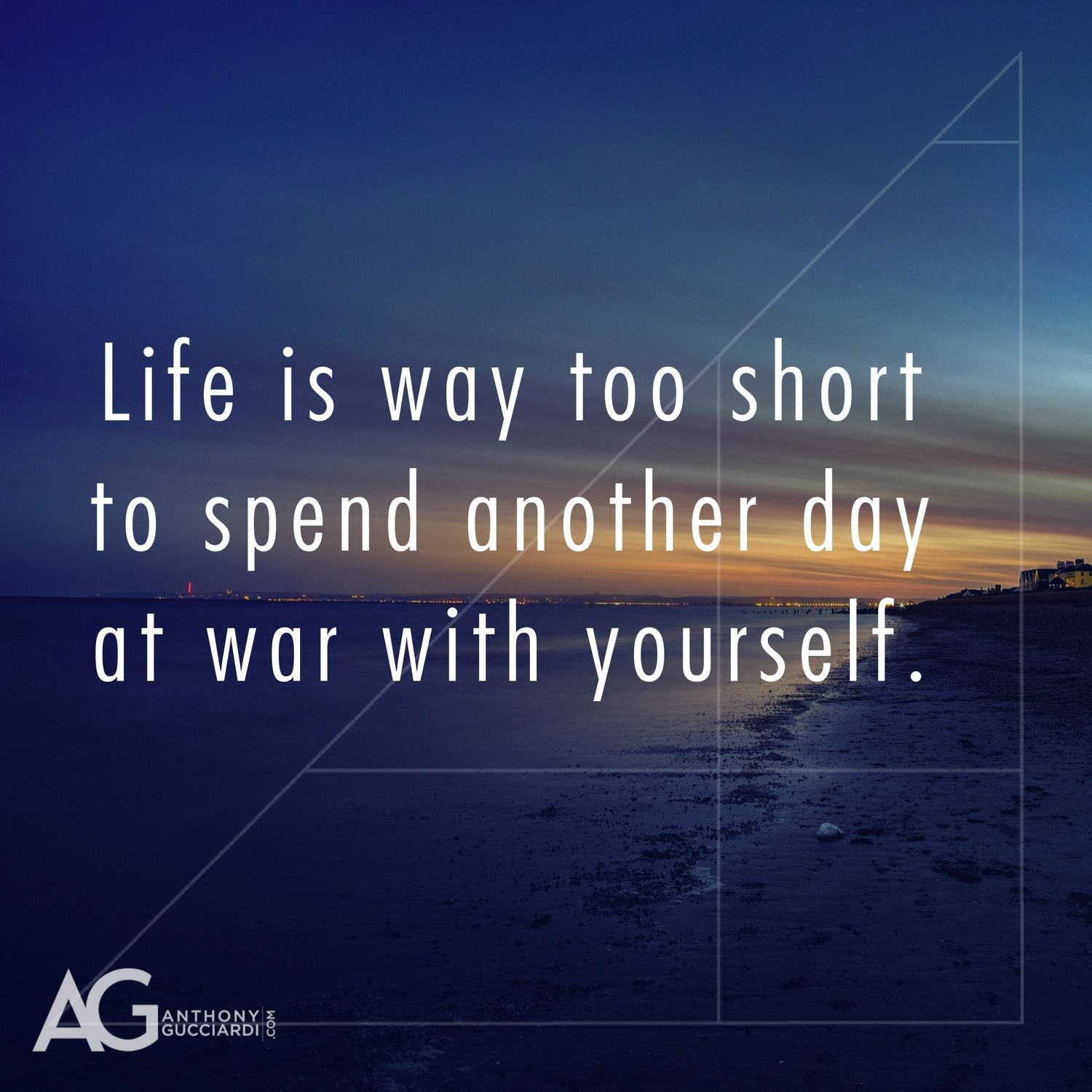Life is way too short to spend another day at war with ...