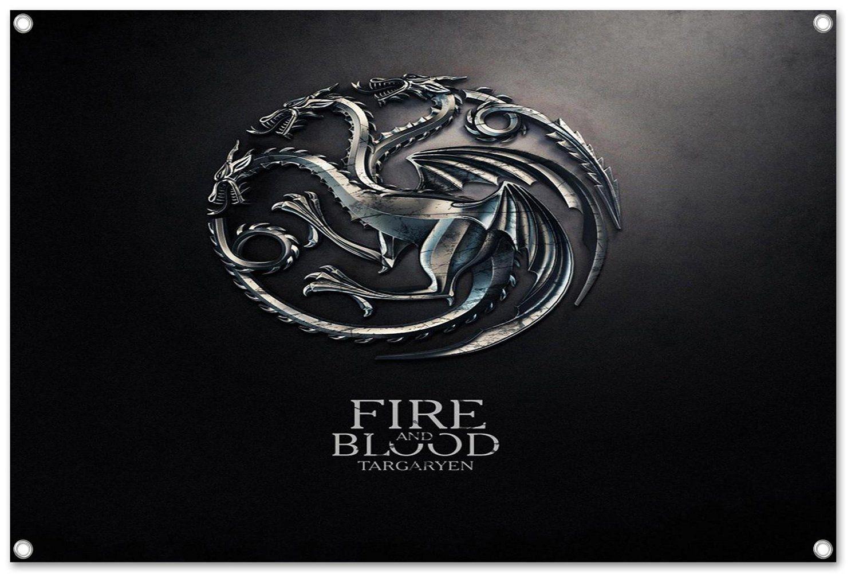 Targaryen Wappen Game of Thrones Motiv auf PVC Plane Banner inkl