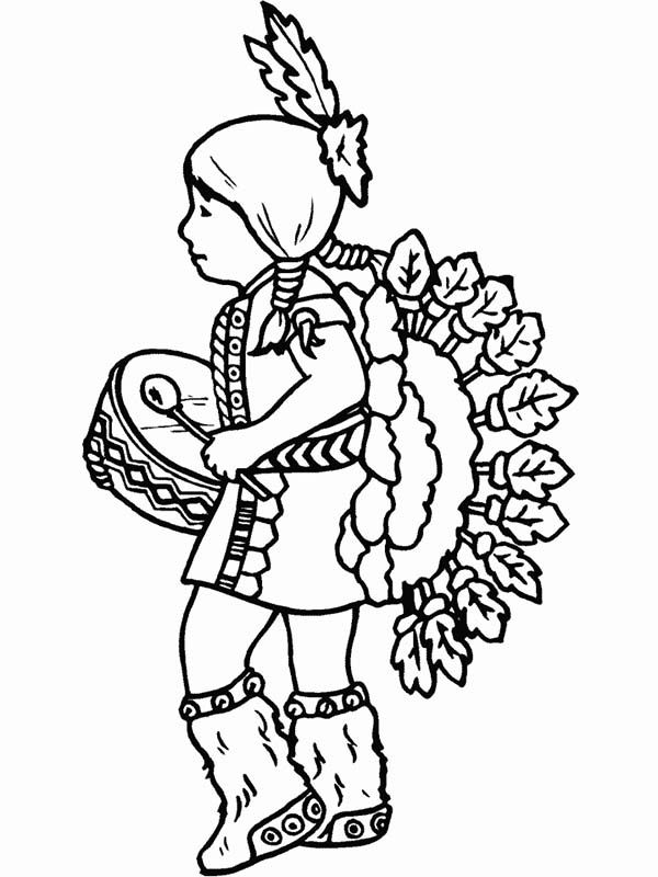 Image Result For Indian Coloring Pages Indianer Indianer