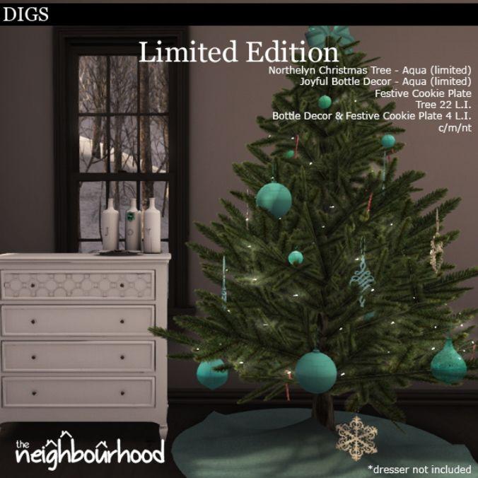 2013/12/07  DIGS - Limited Edition Northelyn Tree - Aqua http://maps.secondlife.com/secondlife/Terra%20Felix/140/129/24