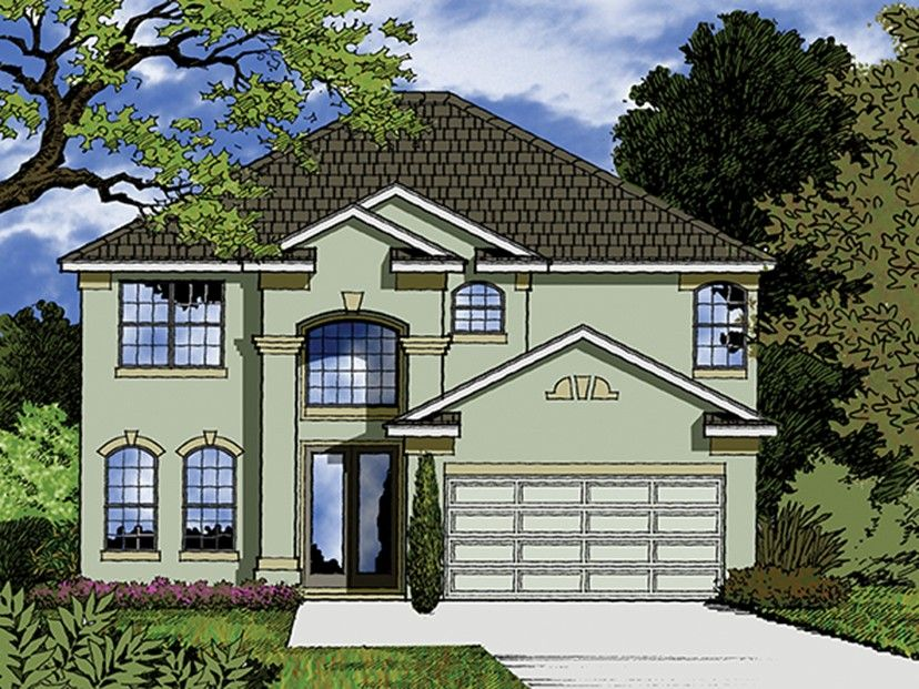 Mediterranean Home Plan With  Square Feet And  Bedrooms From Dream Home Source House