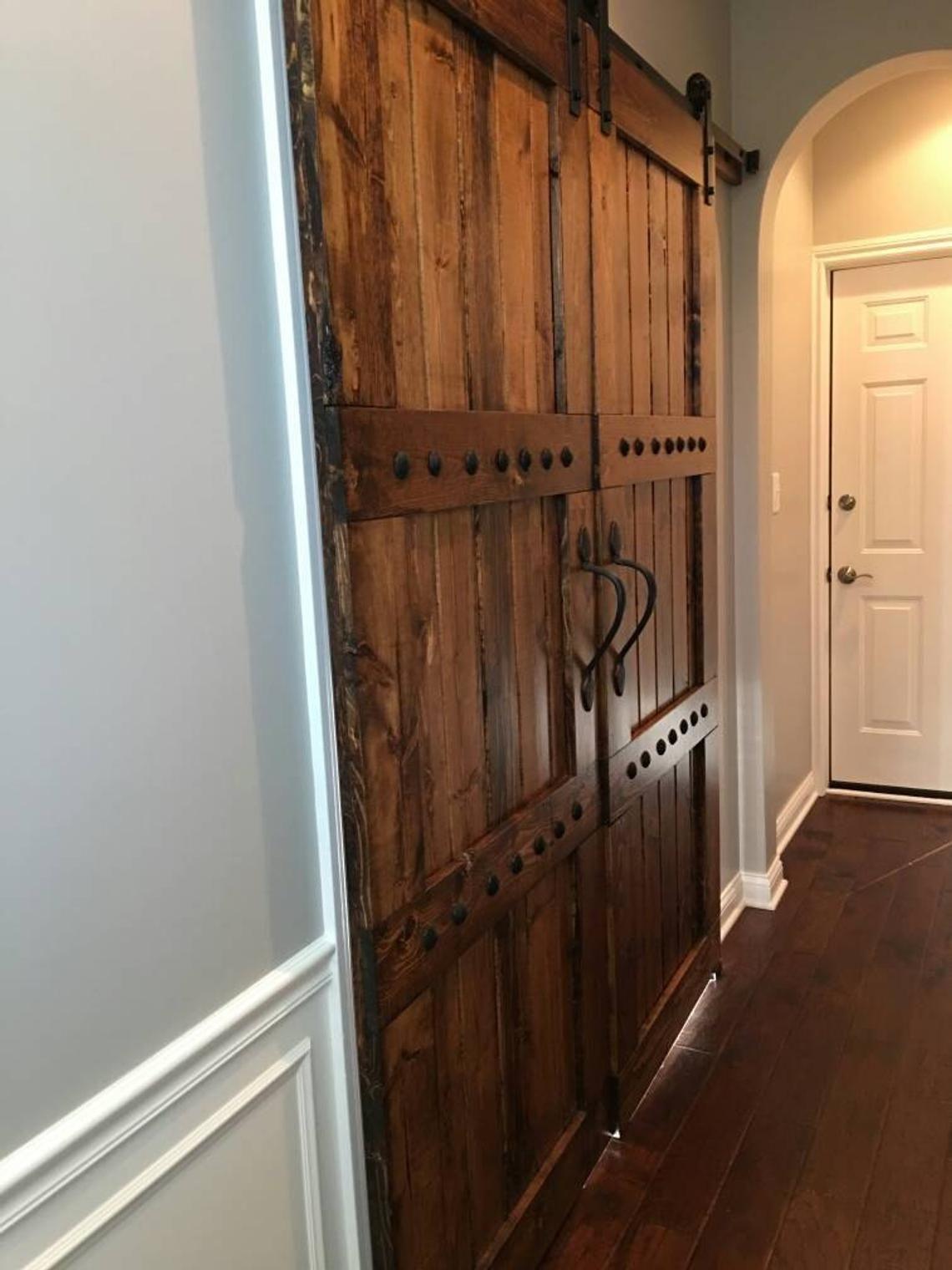 Interior Double Barn Door Package Double Doors Sliding Etsy Barn Doors Sliding Doors Interior Sliding Doors Interior