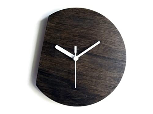 Amazon Com 11 Inch Small Wooden Quiet Contemporary Wall Clock In Many Colors As Wenge 28 Cm No Ticking Tiny Modern Fr In 2020 Contemporary Wall Clock Wall Clock Clock
