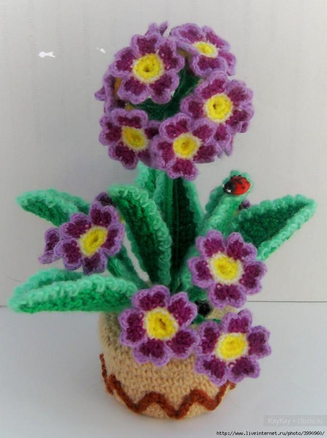 вязанные цветы крючком вязание игрушек на спицах и крючком