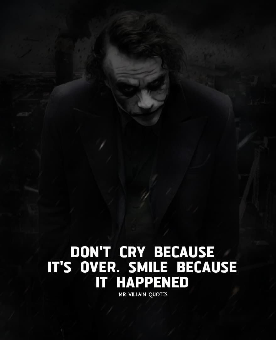 image contain person night and text villain quote joker