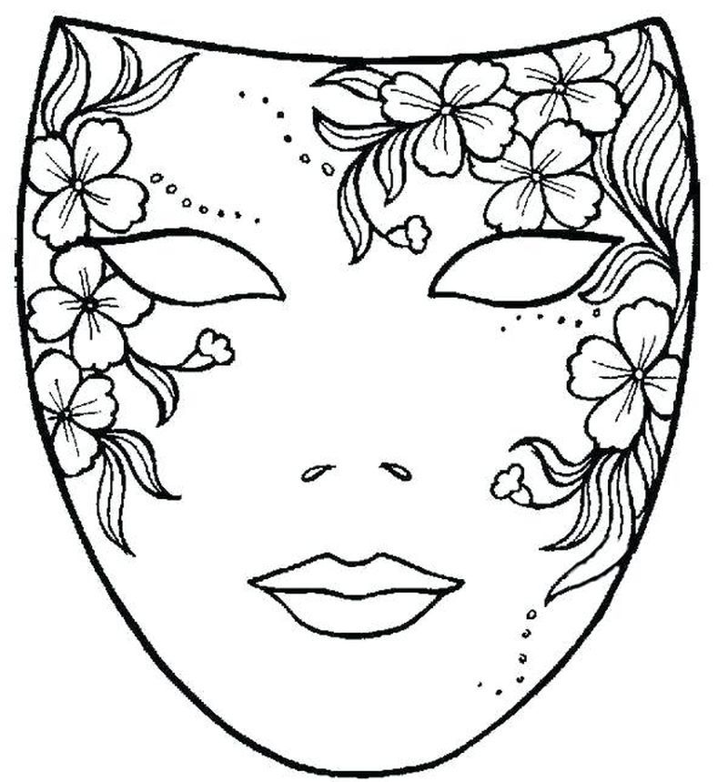 Cheetah Mask Coloring Page Coloring Mask Coloring Pages Coloring Pictures