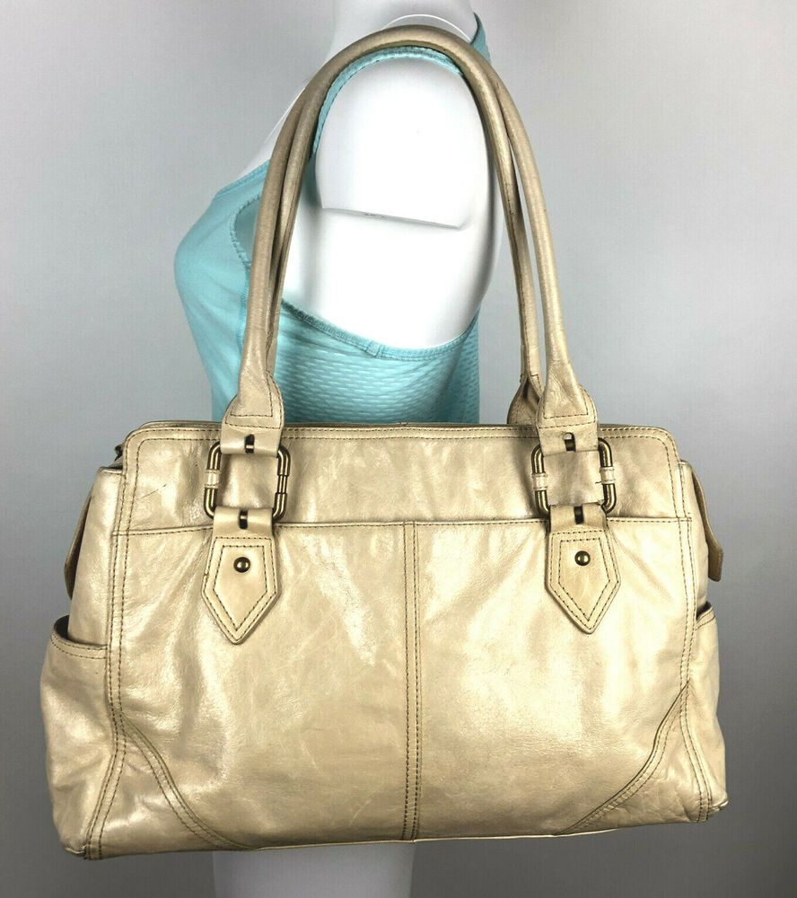 Wilsons Leather Large Shoulder Bag Carry All Purse Double