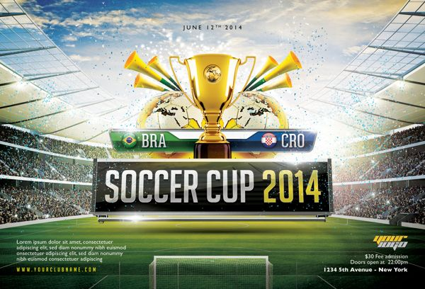 Soccer Cup  Flyer Template By Easybrandz  Via Behance  Flyers