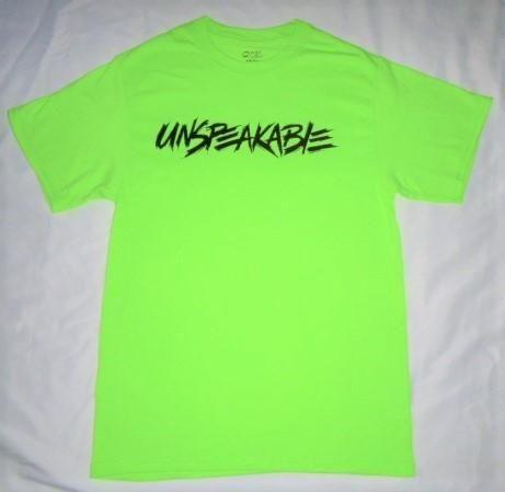 New Font Green Unspeakable T Shirt Favorites Shirts T
