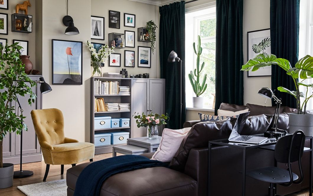 A Gallery Of Living Room Inspiration Small Space Living Room Small Space Living Black Furniture Living Room
