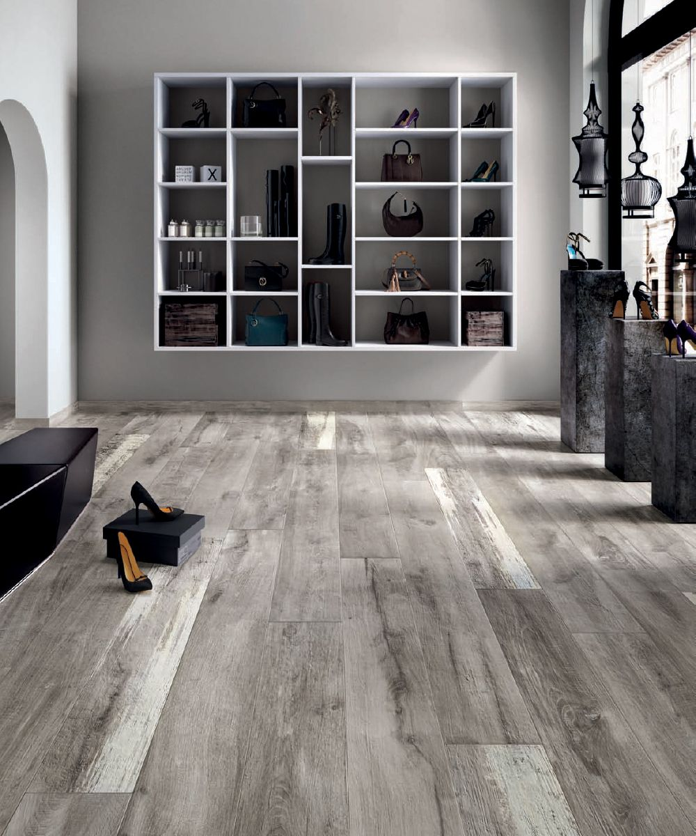 Ariana legend grey 8 in x 48 in porcelain wood look tile porcelain wood look tile dailygadgetfo Images