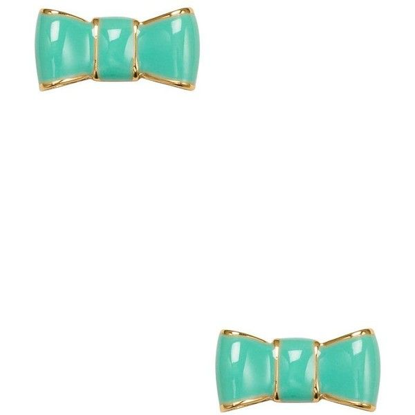 Kate Spade Take A Bow Studs ($48) ❤ liked on Polyvore featuring jewelry, earrings, polish jewelry, kate spade earrings, kate spade jewelry, kate spade and bow stud earrings