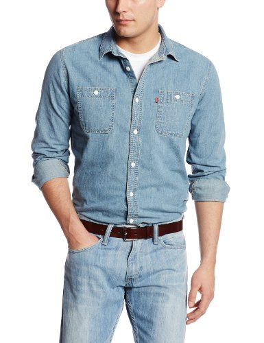 6bf10534 Levi's Men's Standard Denim Workshirt, Authentic Stonewash, Small Levi's  http://www