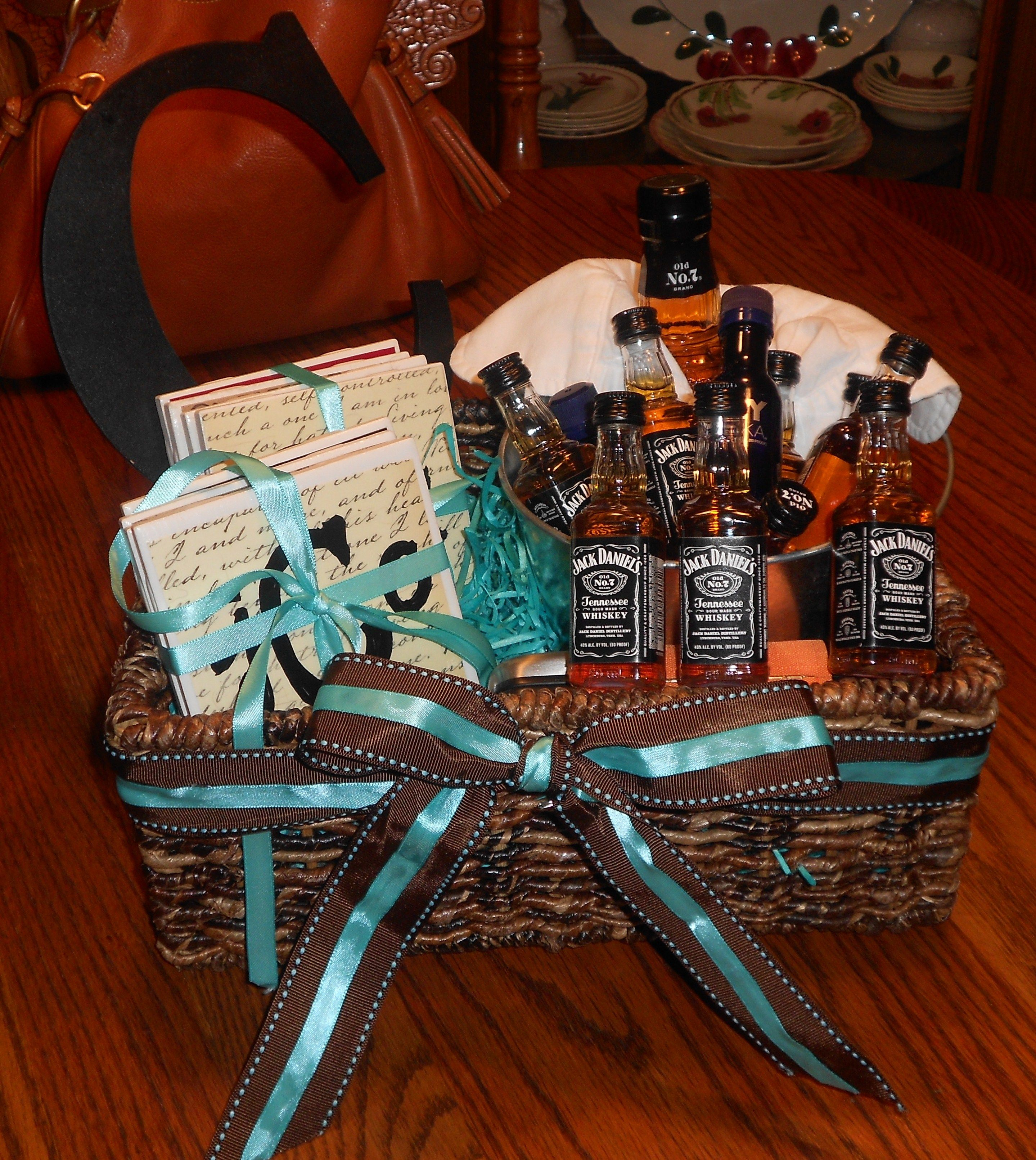 Mens Christmas Gift Ideas: Whiskey Gift Basket For Cole! Complete With Homemade
