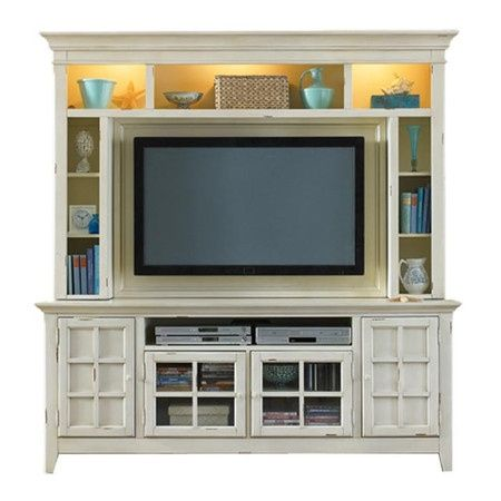 White Entertainment Cabinet With Lighting Chris Next Project