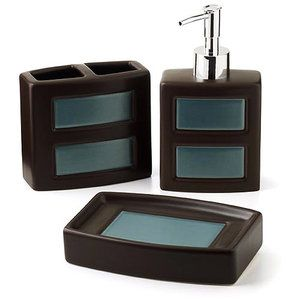 Hometrends Gridlock 3 Piece Bath Accessories Set From