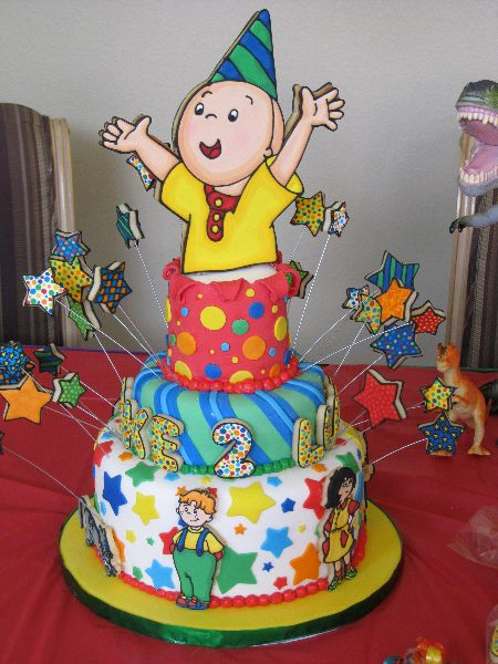 caillou cake Google Search girl birthday ides Pinterest