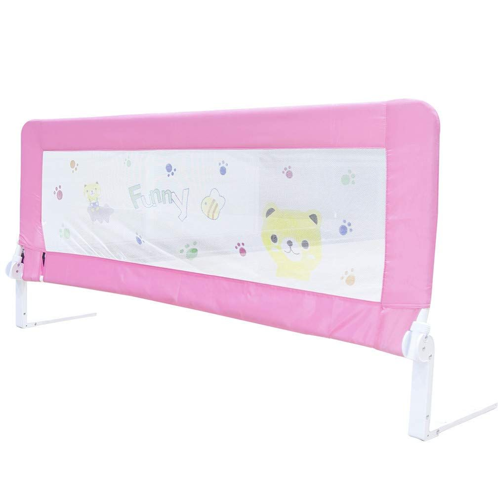 71 inch bed rails for toddlers qintian pink swing down