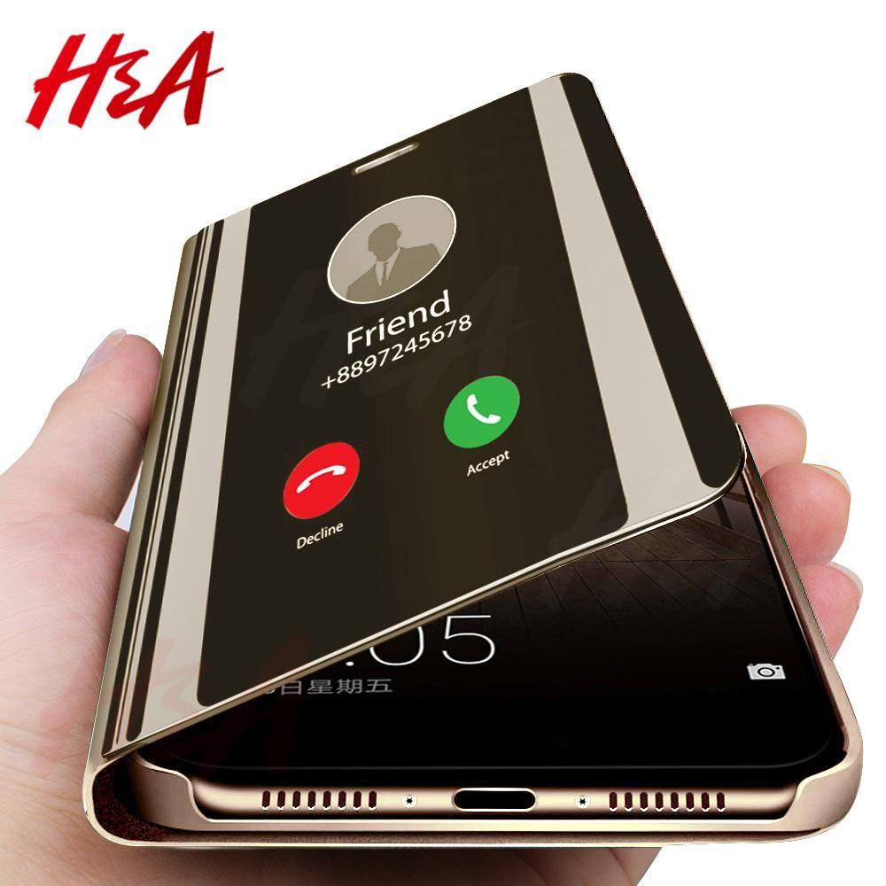 Ha clear view smart mirror phone case for samsung galaxy