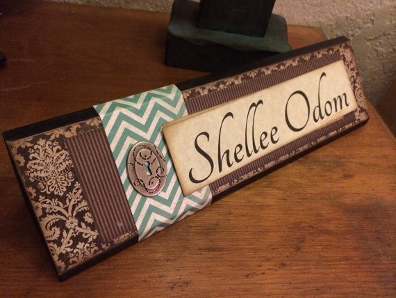 Unique Wooden Office Desk Name Plate Plaque Block Handmade Personalized On Etsy 1 Office Desk Name Plates Wooden Office Desk Personalized Desk Name Plate
