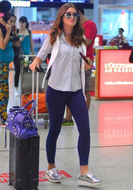 Marina Ruy Barbosa Roupas Para Viajar, Roupas De Viagem, Looks Aeroporto,  Looks Para f1ad4833b2