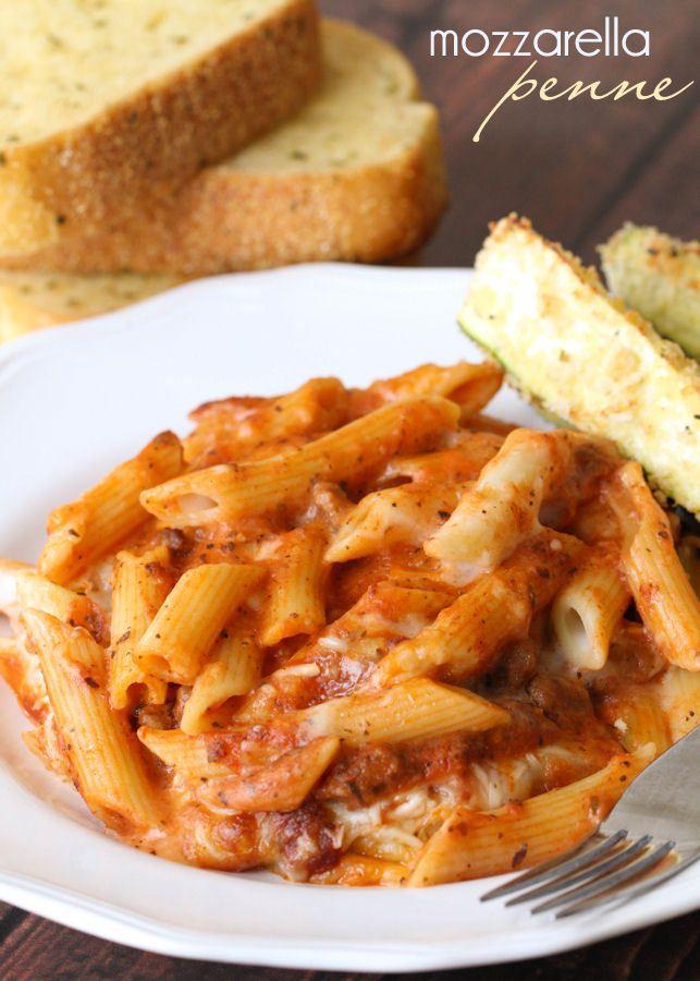 Delicious Mozzarella Penne with Italian Sausage - a super tasteful and cheesy recipe everyone will love!