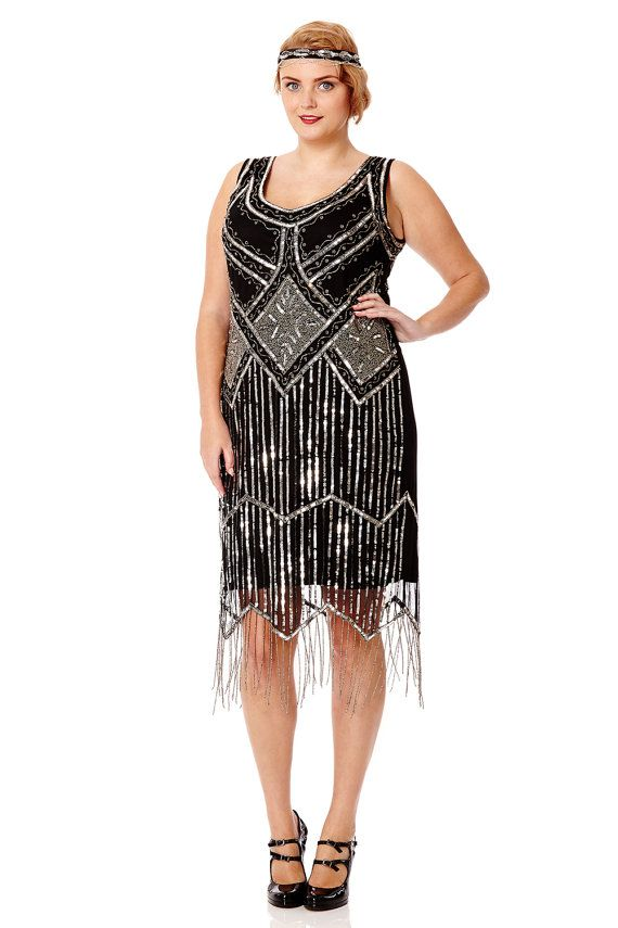 a025e6801d Isobel Black Vintage 20s inspired Flapper Great Gatsby Art Deco ...