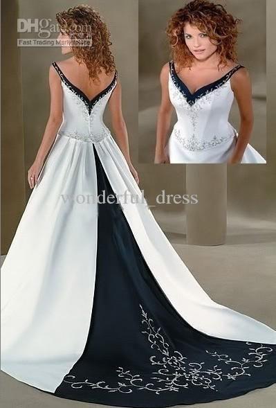2013 a line navy blue white empire applique wedding dresses evening dresses cocktail dresses