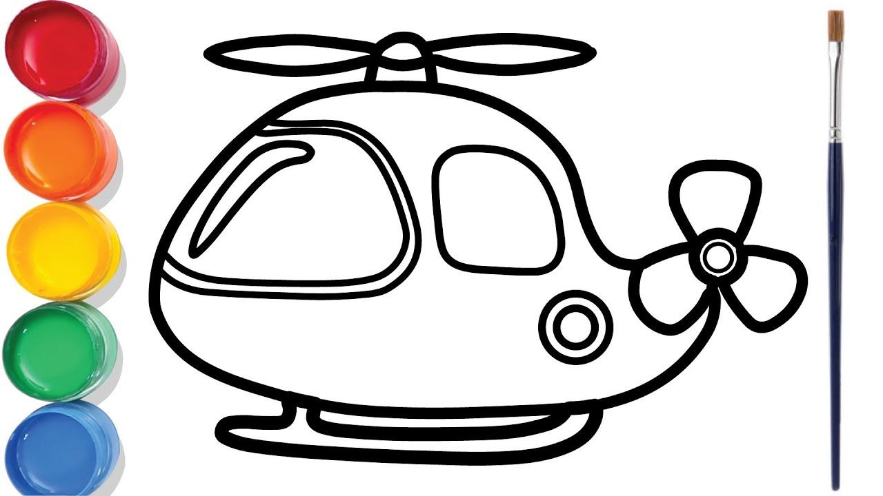 Helicopter Drawing And Coloring For Kids Chuchu Colors Tv Coloring For Kids Drawings Drawing For Kids