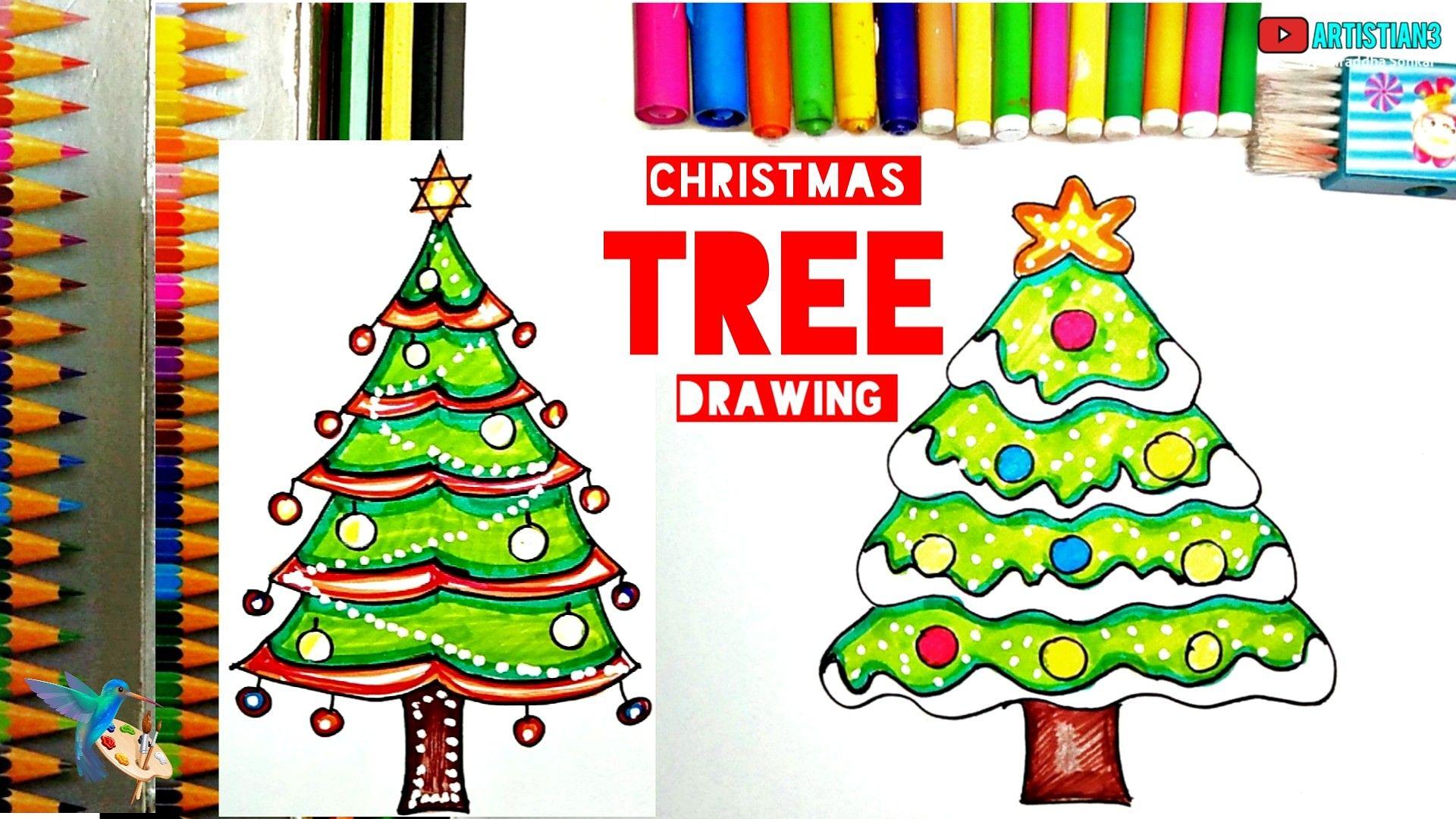 Christmas Tree Drawing For Kid S Christmas Tree Drawing Tree Drawing Tree Drawing For Kids