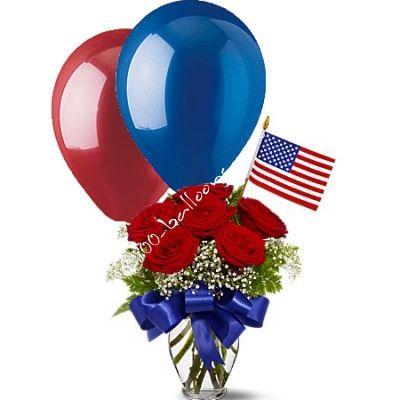 patriotic flower arrangements balloon bouquet