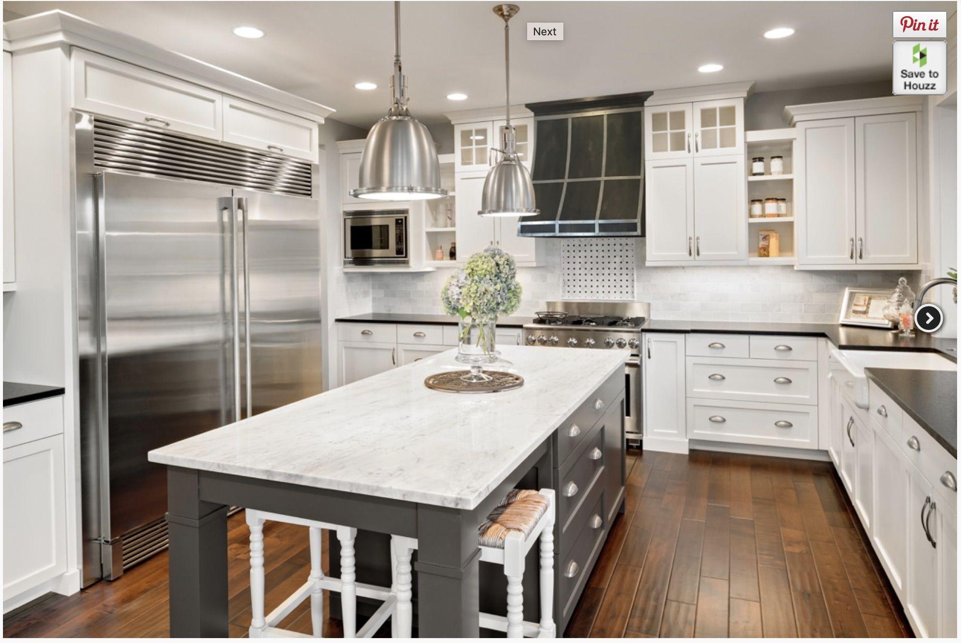 Contrast, range hood in 2020 Contrasting kitchen island