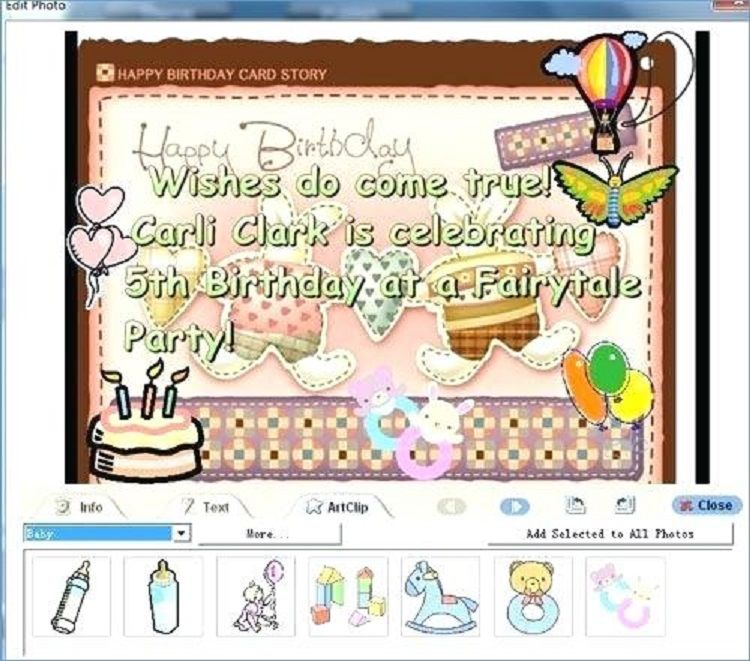 Happy Birthday Invitation Card With Photo Creator