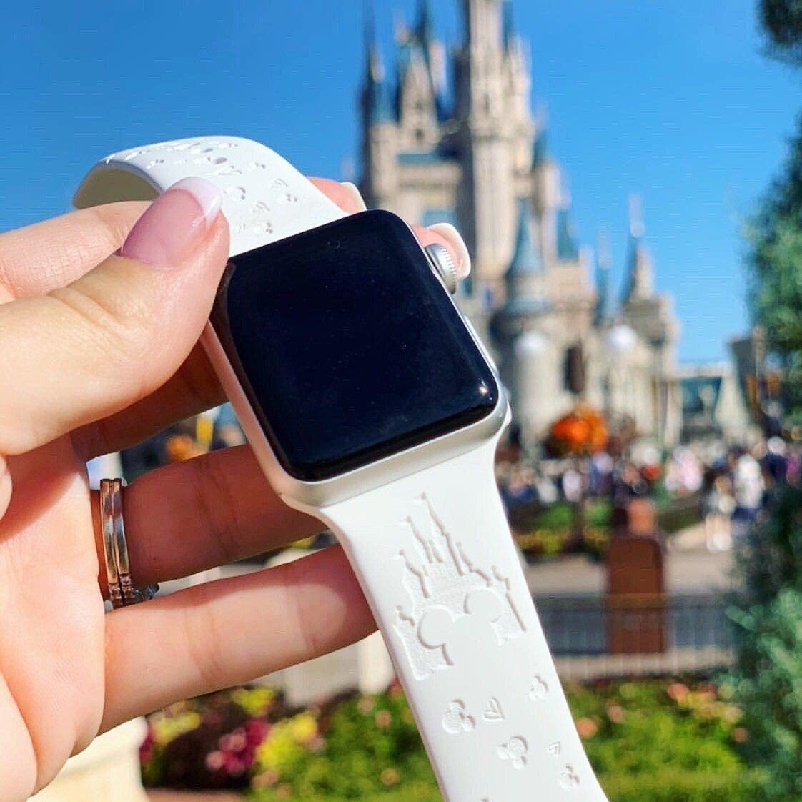 Disney Inspired CASTLE Band for Apple Watch White
