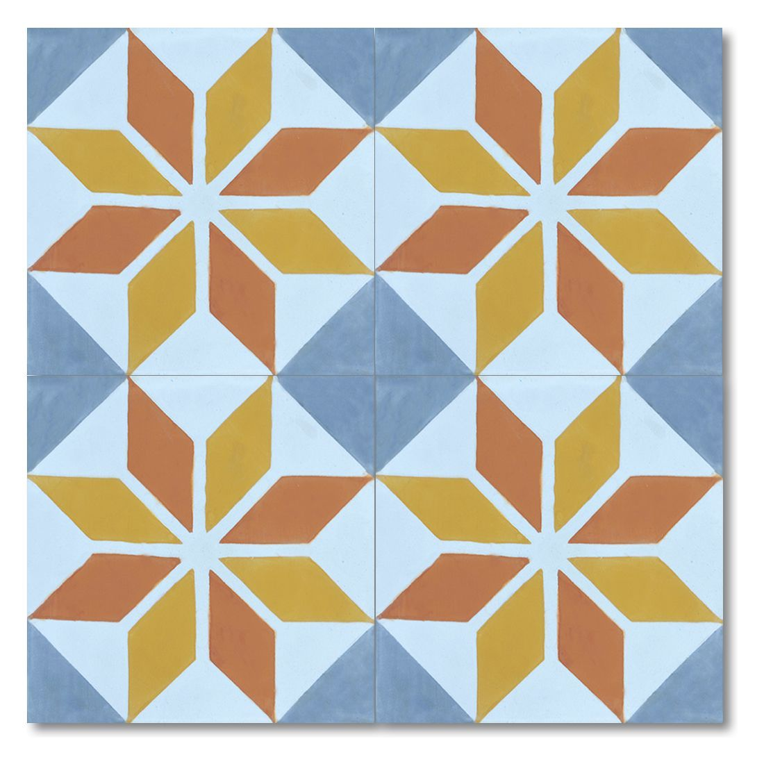 Assila Gold Handmade Moroccan X Inch Cement And Granite Floor Or - 8 inch square ceramic tiles