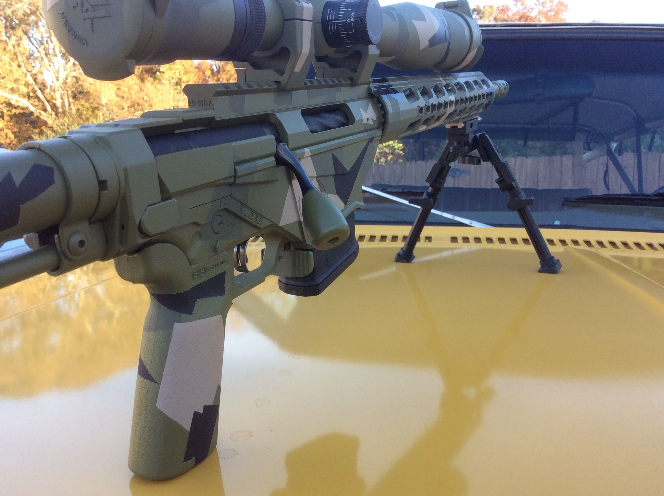 Ruger Precision Rifle in Swedish M90 camo